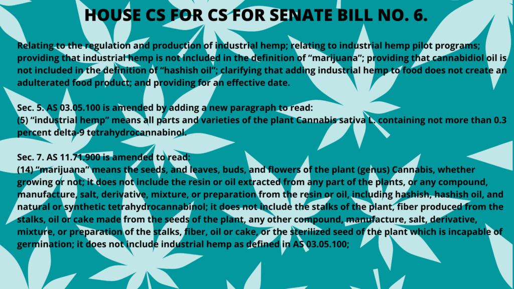 HOUSE CS FOR CS FOR SENATE BILL NO. 6.